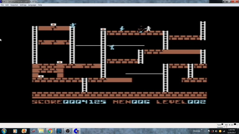 Commodore 64 - Lode Runner - EMU - Marathon - - 483,300 - william rosa