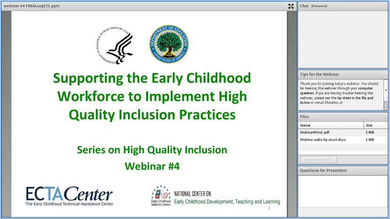 Professional Development to Support Effective Inclusion Practices