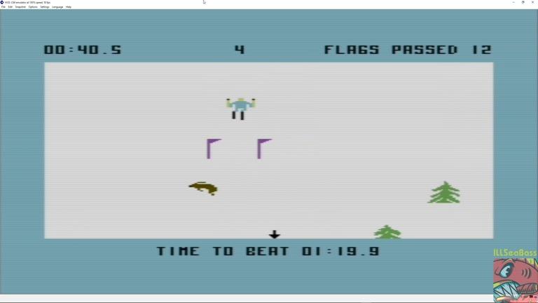Commodore 64 - Ski Devil - EMU - Course 4 - Fastest Time - 01:08.0 - Matt Sales