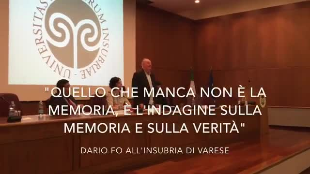 Video: Dario Fo a Varese ricorda Ion Cazacu