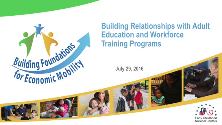 Building Relationships with Adult Education and Workforce Training Programs