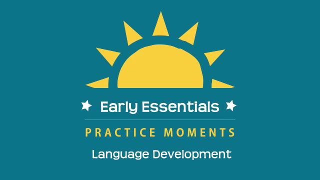 Early Essentials Webisode 9 Practice Moment: Language Development