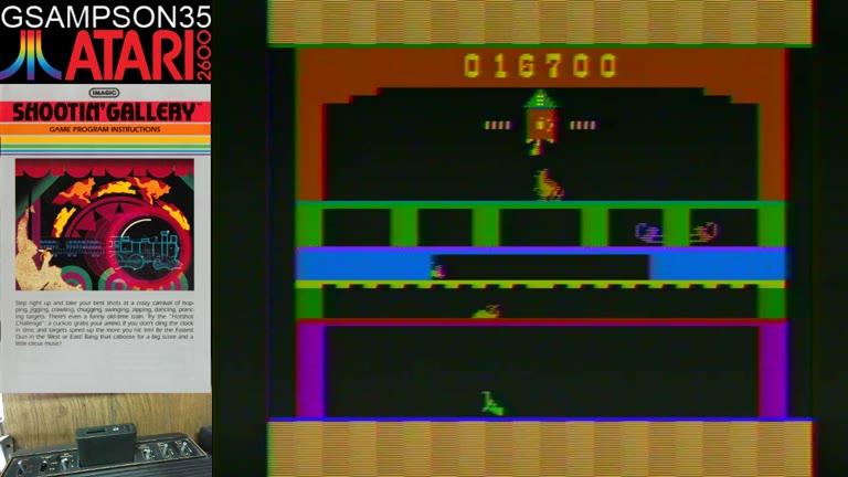 Atari 2600 / VCS - Shootin' Gallery - NTSC - Game 1, Difficulty B - 253,000 - glen sampson