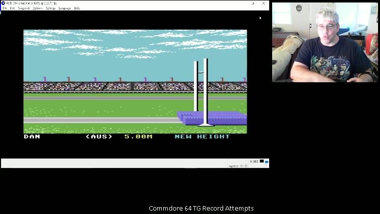 Commodore 64 - Summer Games - EMU - 100m - Fastest Time - - 09.83 - Daniel Desjardins