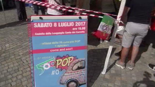 La sfilata di sabato del 34^ Meeting Internazionale della Fiat 500