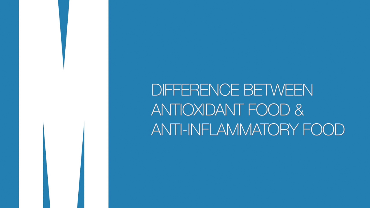 Differences between antioxidant food and anti-inflammatory food