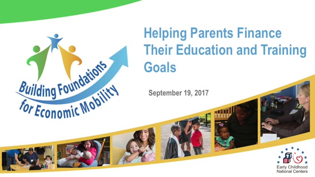 Helping Parents Finance Their Education and Training Goals