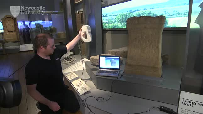 Reading and recording cult objects using laser scanning