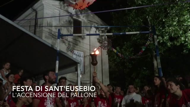 Video: Sant'Eusebio: l'accensione del Pallone