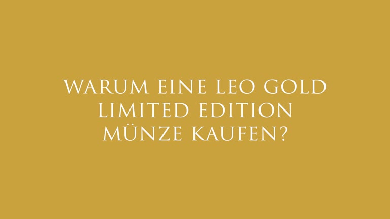 LEO Gold Sammlermünze Limited Edition