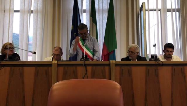 Cengio, il giuramento del sindao Francesco Dotta