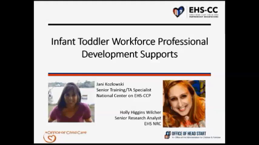 Infant/Toddler Workforce Professional Development Supports