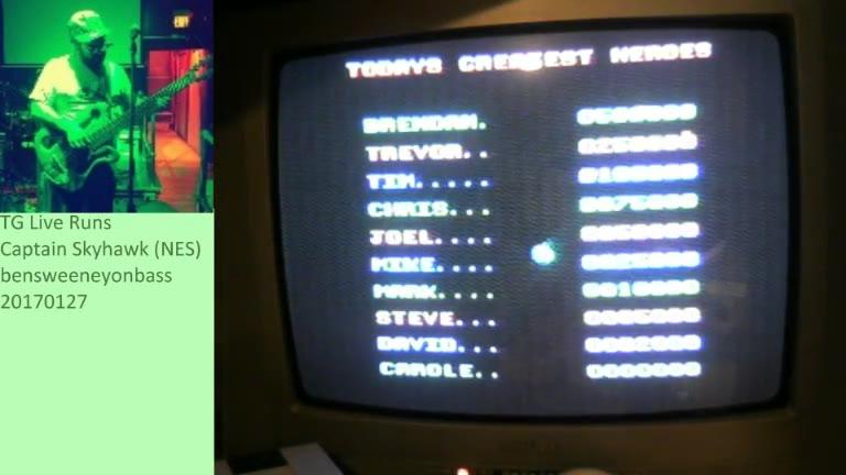 Nintendo Entertainment System - Captain Skyhawk - NTSC - Points - 531,580 - Benjamin Sweeney