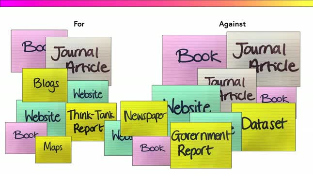Organising your sources and structuring your essay