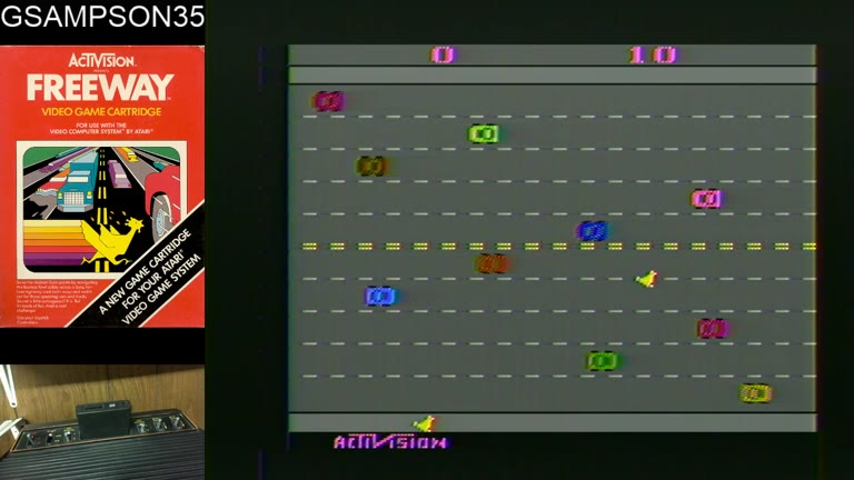 Atari 2600 / VCS - Freeway - NTSC - Game 1, Difficulty B - 38 - glen sampson