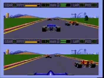 Sega Genesis / Sega Mega Drive - Mario Andretti Racing - NTSC - Indy Car - Bayshore - 8 Laps - Fastest Race - 05:35.3 - Jared Oswald