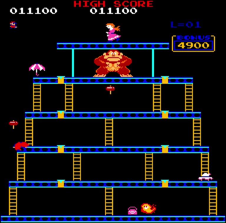 M.A.M.E. - Donkey Kong [US Set 1] - Points [Level 1-1] - 11,100 - Vincent Cote