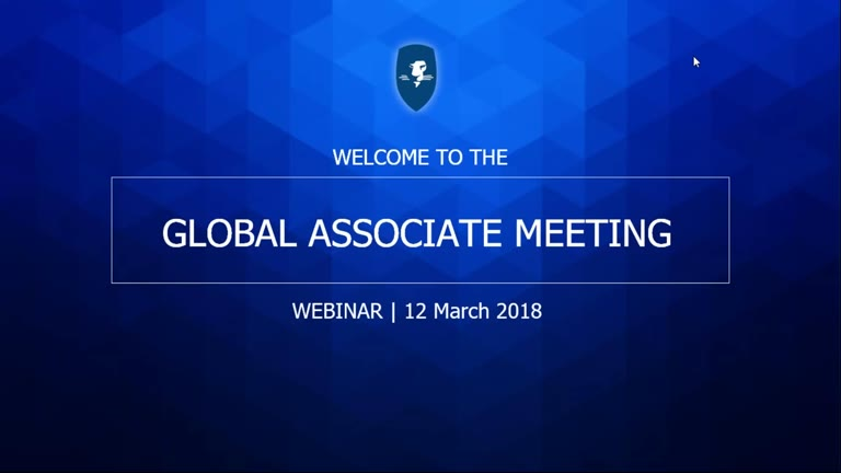 Global Associate Meeting 12 March 2018