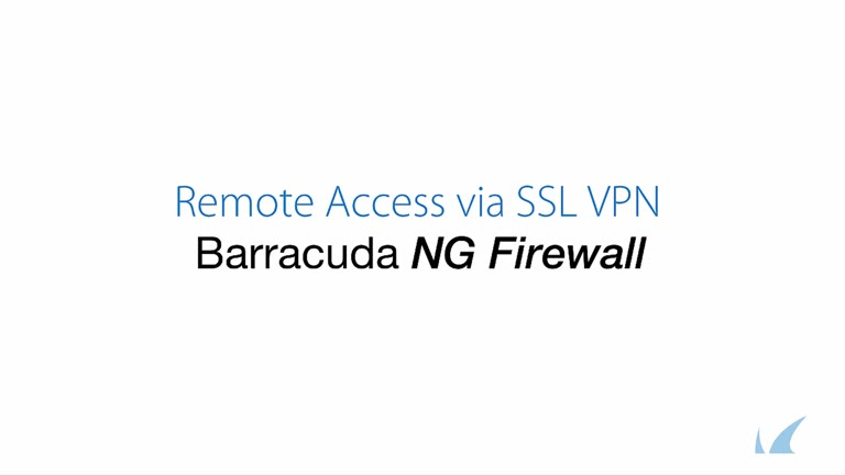 Barracuda NG Firewall - SSL VPN