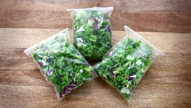 The meal: bagged salad