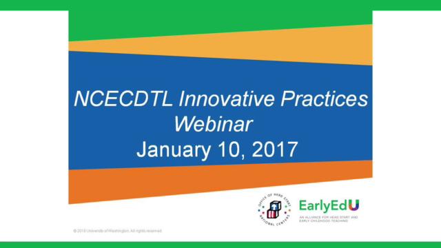 EarlyEdU Alliance: Transformación del desarrollo de los maestros en la primera infancia