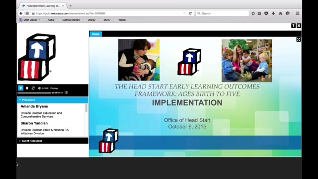 Implementation of the Head Start Early Learning Outcomes Framework: Ages Birth to Five (Oct. 6, 2015)