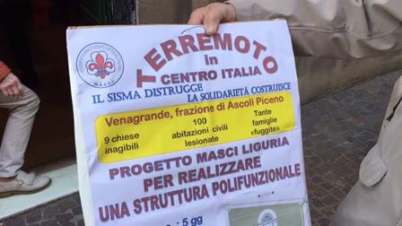 Pietra, raccolta fondi di Masci Liguria per i terremotati
