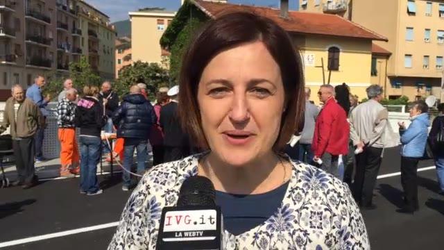 """Video: Vado, ponte sul torrente Segno: """"Primo passo per la messa in sicurezza del territorio"""""""