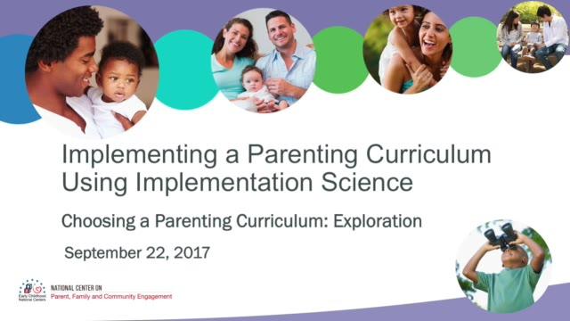 Choosing a Parenting Curriculum: Exploration