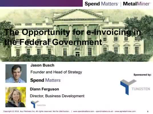 What does the future of e-invoicing look like for the US Federal Government? slide image