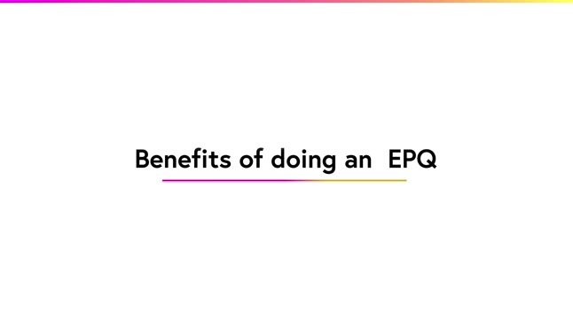 Benefits of doing an EPQ
