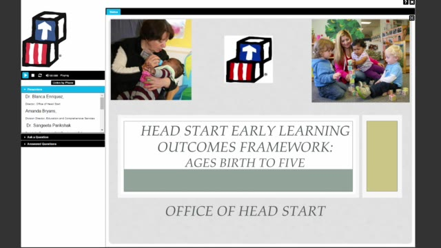 Head Start Early Learning Outcomes Framework: Ages Birth to Five (June 30, 2015)