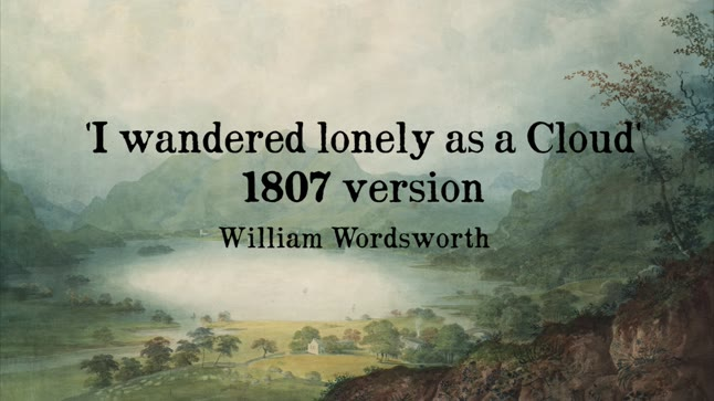 I wandered lonely': 1807 and 1815 version
