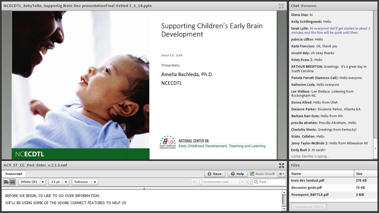 Supporting Children's Early Brain Development
