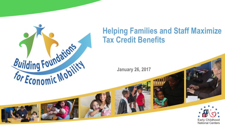 Helping Families and Staff Maximize Tax Credit Benefits