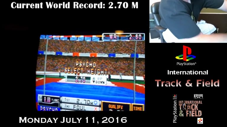 PlayStation - International Track and Field - NTSC - High Jump [Highest Height Cleared] - 2.70 - Derek Ruble