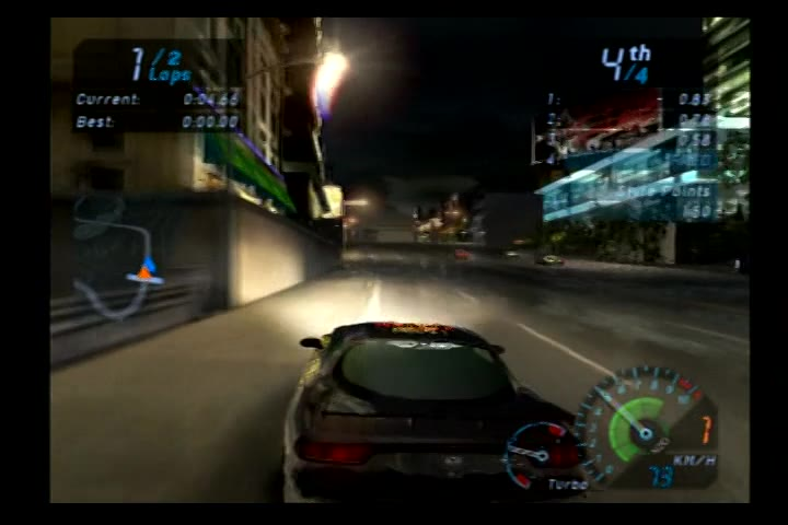 PlayStation 2 - Need for Speed Underground - NTSC - Circuit Mode - Market Street Reverse [Fastest Race] - 02:18.35 - Fred Bugmann