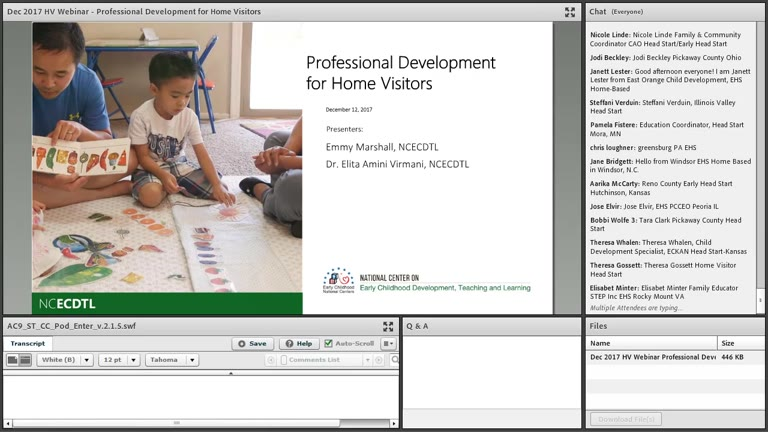 Professional Development for Home Visitors