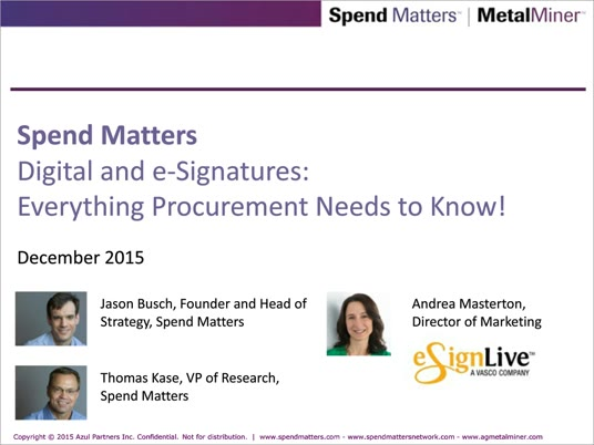 Digital and e-Signatures: Everything Procurement Needs to Know! slide image