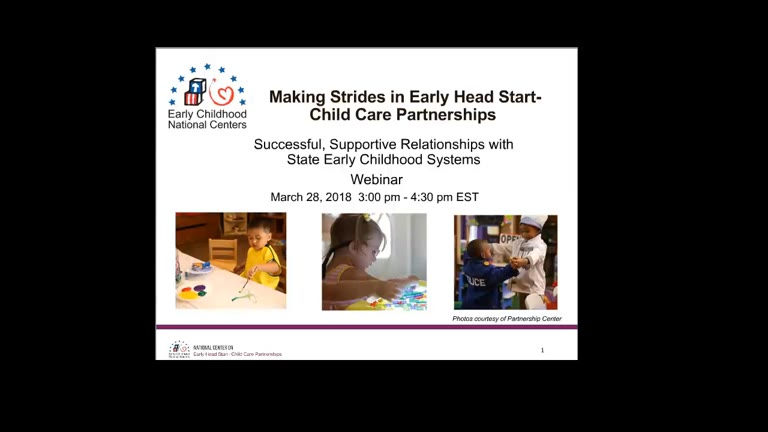 Successful, Supportive Relationships with State Early Childhood Systems