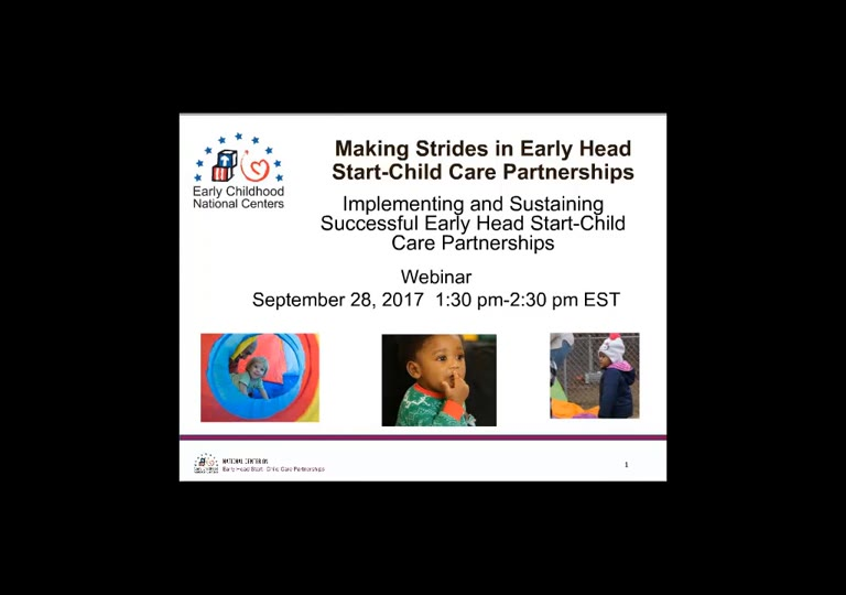 Implementing and Sustaining Successful Early Head Start-Child Care Partnerships