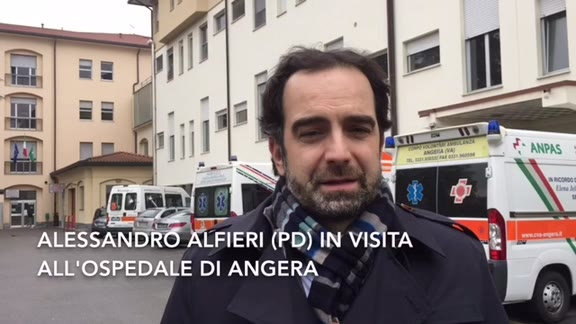 Video: Alfieri in visita all'ospedale di Angera