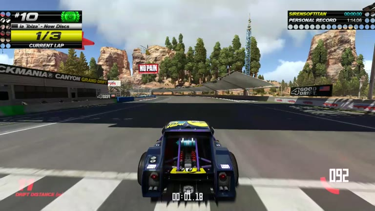 PlayStation 4 - Trackmania Turbo - White Series 10 - Fastest Time - 01:13.85 - Shaun Michaud