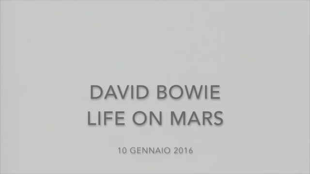 "Video: David Bowie e ""Life on mars"""