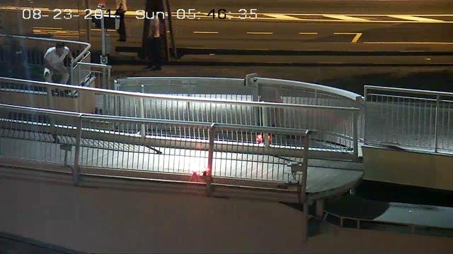 Video: Savona, ancora vandali sul ponte mobile
