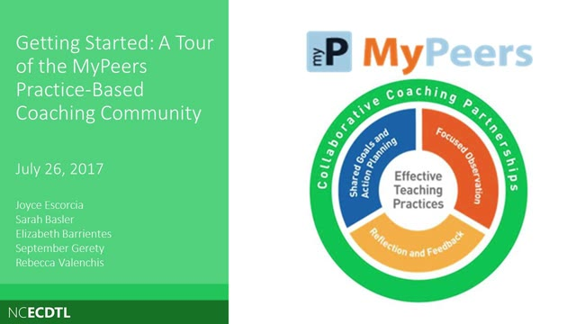 A Tour of the MyPeers Practice-Based Coaching Community