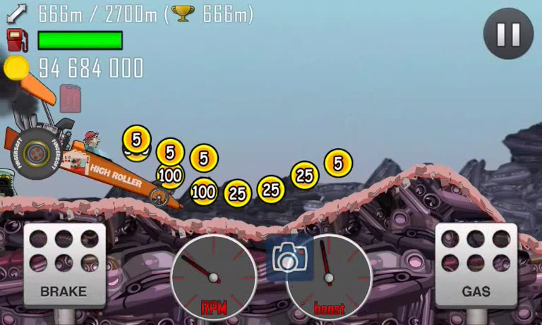 Android - Hill Climb Racing - Rally Car - Junkyard [Distance] - 1,586 - Andrew Mee