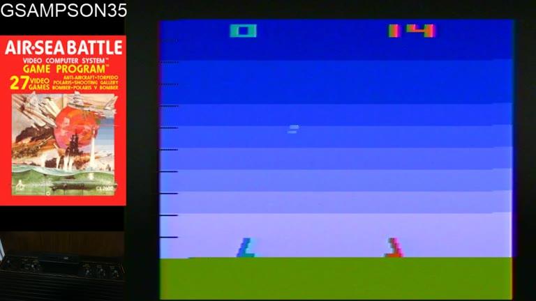 Atari 2600 / VCS - Air-Sea Battle - NTSC - Game 15, Difficulty BB - 99 - glen sampson