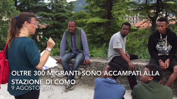 Video: Al campo dei migranti di Como