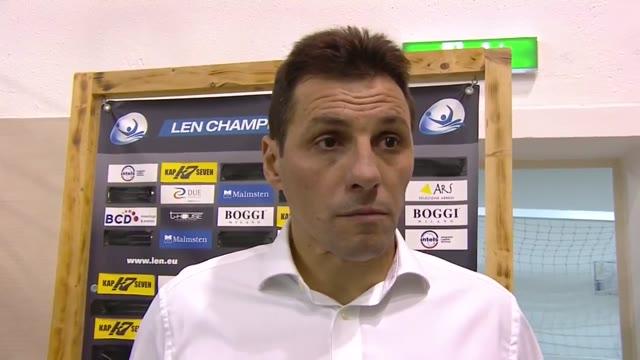 Pro Recco, il commento di Vladimir Vujasinovic dopo il successo sulla Steaua